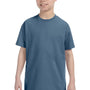Hanes Youth ComfortSoft Short Sleeve Crewneck T-Shirt - Denim Blue
