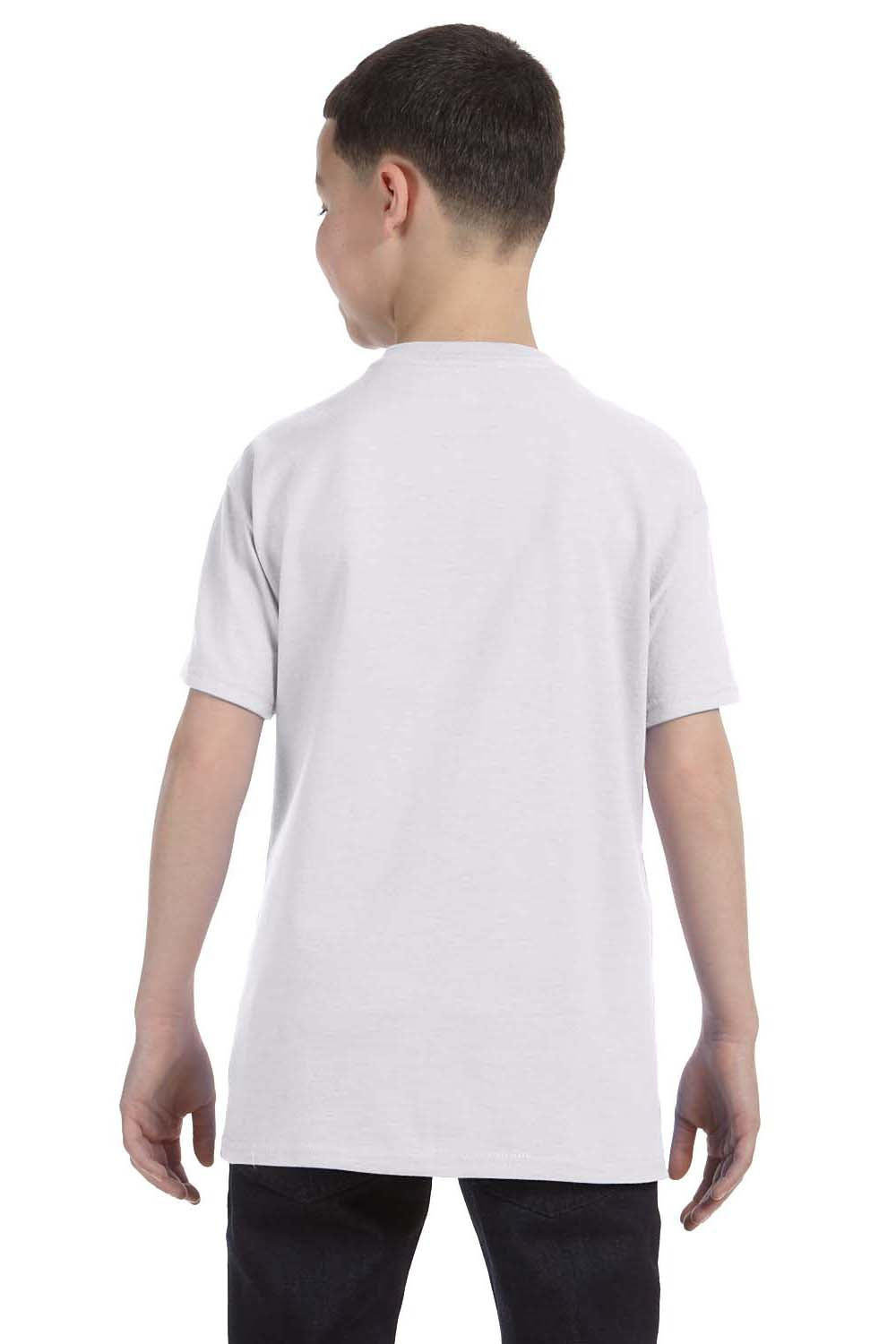Hanes 54500 Youth ComfortSoft Short Sleeve Crewneck T-Shirt Ash Grey Back
