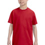 Hanes Youth ComfortSoft Short Sleeve Crewneck T-Shirt - Deep Red