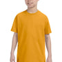 Hanes Youth ComfortSoft Short Sleeve Crewneck T-Shirt - Gold