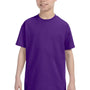 Hanes Youth ComfortSoft Short Sleeve Crewneck T-Shirt - Purple