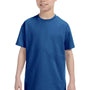 Hanes Youth ComfortSoft Short Sleeve Crewneck T-Shirt - Deep Royal Blue