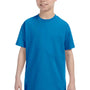 Hanes Youth ComfortSoft Short Sleeve Crewneck T-Shirt - Sapphire Blue