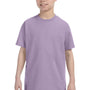 Hanes Youth ComfortSoft Short Sleeve Crewneck T-Shirt - Lavender Purple