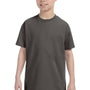 Hanes Youth ComfortSoft Short Sleeve Crewneck T-Shirt - Smoke Grey