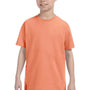 Hanes Youth ComfortSoft Short Sleeve Crewneck T-Shirt - Candy Orange