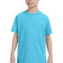 Hanes Youth ComfortSoft Short Sleeve Crewneck T-Shirt - Blue Horizon