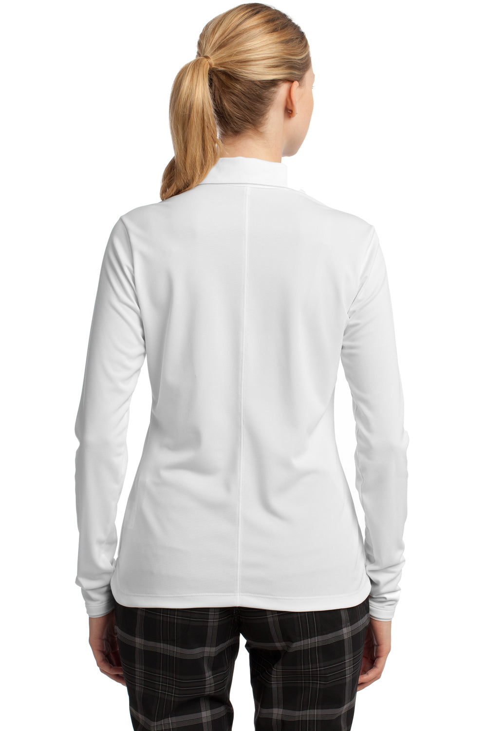 Nike 545322 Womens Stretch Tech Dri-Fit Moisture Wicking Short Sleeve Polo Shirt White Back