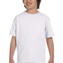 Hanes Youth ComfortSoft Short Sleeve Crewneck T-Shirt - White