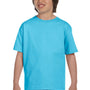 Hanes Youth ComfortSoft Short Sleeve Crewneck T-Shirt - Light Blue