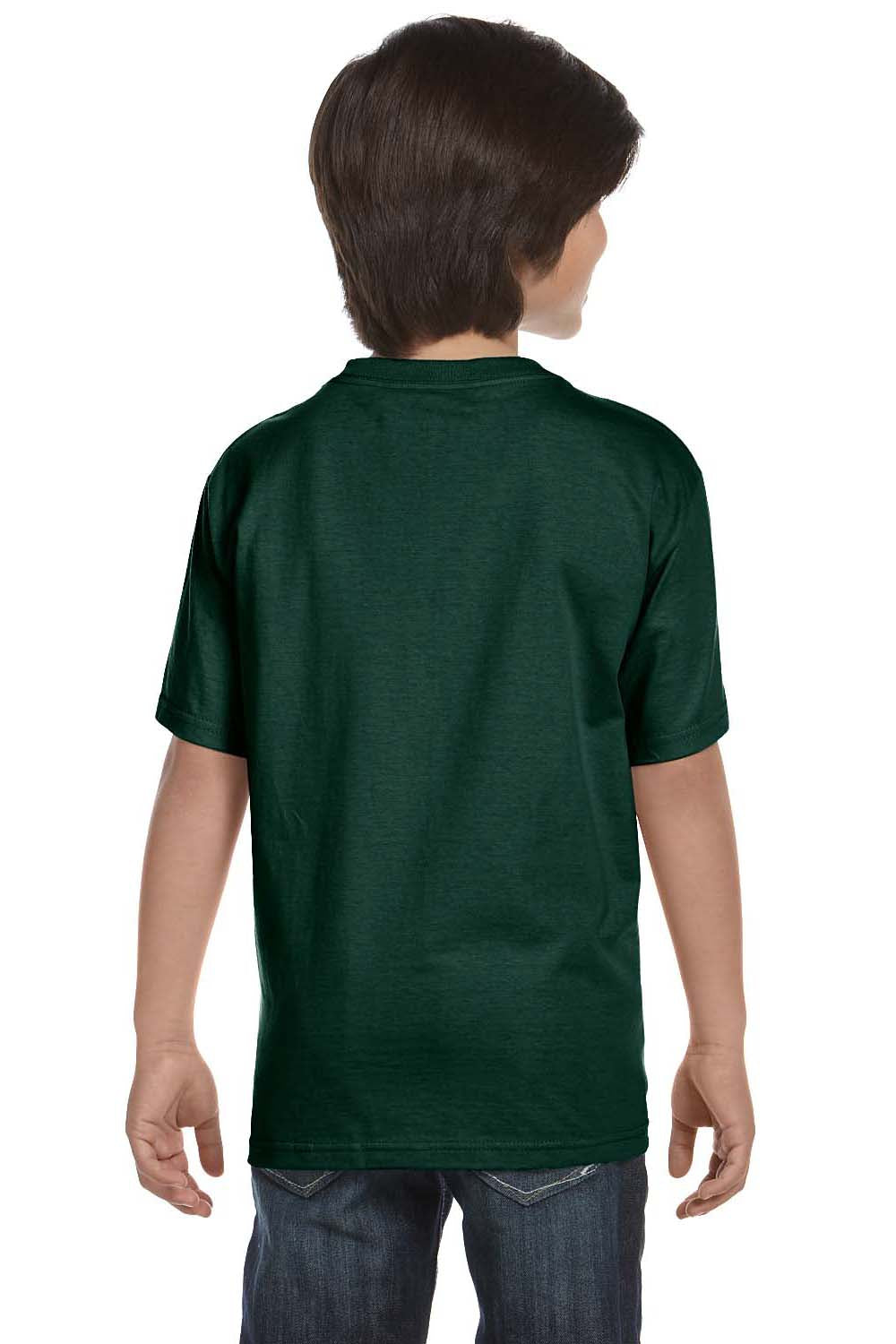 Hanes 5480 Youth ComfortSoft Short Sleeve Crewneck T-Shirt Forest Green Back