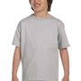 Hanes Youth ComfortSoft Short Sleeve Crewneck T-Shirt - Light Steel Grey