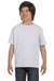 Hanes 5480 Youth ComfortSoft Short Sleeve Crewneck T-Shirt Ash Grey Front