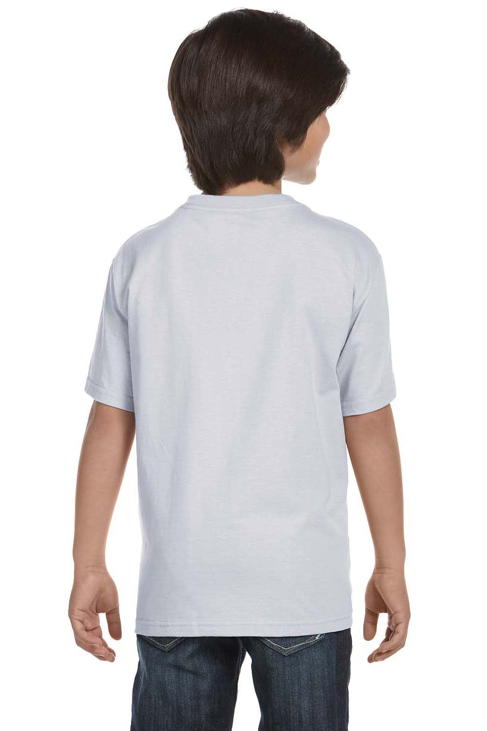 Hanes 5480 Youth ComfortSoft Short Sleeve Crewneck T-Shirt Ash Grey Back