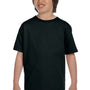 Hanes Youth ComfortSoft Short Sleeve Crewneck T-Shirt - Black