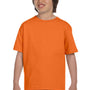 Hanes Youth ComfortSoft Short Sleeve Crewneck T-Shirt - Orange