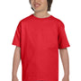 Hanes Youth ComfortSoft Short Sleeve Crewneck T-Shirt - Athletic Red
