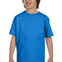 Hanes Youth ComfortSoft Short Sleeve Crewneck T-Shirt - Bluebell Breeze Blue
