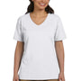 Hanes Womens ComfortSoft Short Sleeve V-Neck T-Shirt - White