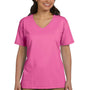 Hanes Womens ComfortSoft Short Sleeve V-Neck T-Shirt - Pink
