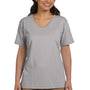 Hanes Womens ComfortSoft Short Sleeve V-Neck T-Shirt - Light Steel Grey
