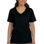 Hanes Womens ComfortSoft Short Sleeve V-Neck T-Shirt - Black