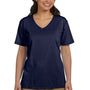 Hanes Womens ComfortSoft Short Sleeve V-Neck T-Shirt - Navy Blue