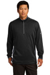 Nike 578673 Mens Dri-Fit Moisture Wicking 1/4 Zip Sweatshirt Black/Dark Grey/White Front