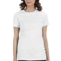 Bella + Canvas Womens White The Favorite Short Sleeve Crewneck T-Shirt