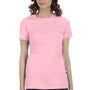 Bella + Canvas Womens Pink The Favorite Short Sleeve Crewneck T-Shirt