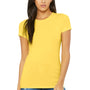 Bella + Canvas Womens Yellow The Favorite Short Sleeve Crewneck T-Shirt