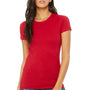 Bella + Canvas Womens Red The Favorite Short Sleeve Crewneck T-Shirt