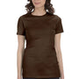 Bella + Canvas Womens Brown The Favorite Short Sleeve Crewneck T-Shirt