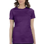 Bella + Canvas Womens Team Purple The Favorite Short Sleeve Crewneck T-Shirt
