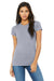 Bella + Canvas 6004 Womens The Favorite Short Sleeve Crewneck T-Shirt Heather Blue Front
