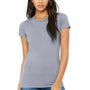 Bella + Canvas Womens Heather Blue The Favorite Short Sleeve Crewneck T-Shirt