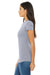 Bella + Canvas 6004 Womens The Favorite Short Sleeve Crewneck T-Shirt Heather Blue Side