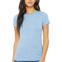Bella + Canvas Womens Baby Blue The Favorite Short Sleeve Crewneck T-Shirt