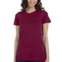 Bella + Canvas Womens Maroon The Favorite Short Sleeve Crewneck T-Shirt