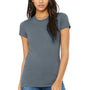 Bella + Canvas Womens Steel Blue The Favorite Short Sleeve Crewneck T-Shirt