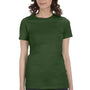 Bella + Canvas Womens Olive Green The Favorite Short Sleeve Crewneck T-Shirt