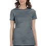 Bella + Canvas Womens Heather Slate Blue The Favorite Short Sleeve Crewneck T-Shirt