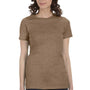 Bella + Canvas Womens Heather Brown The Favorite Short Sleeve Crewneck T-Shirt