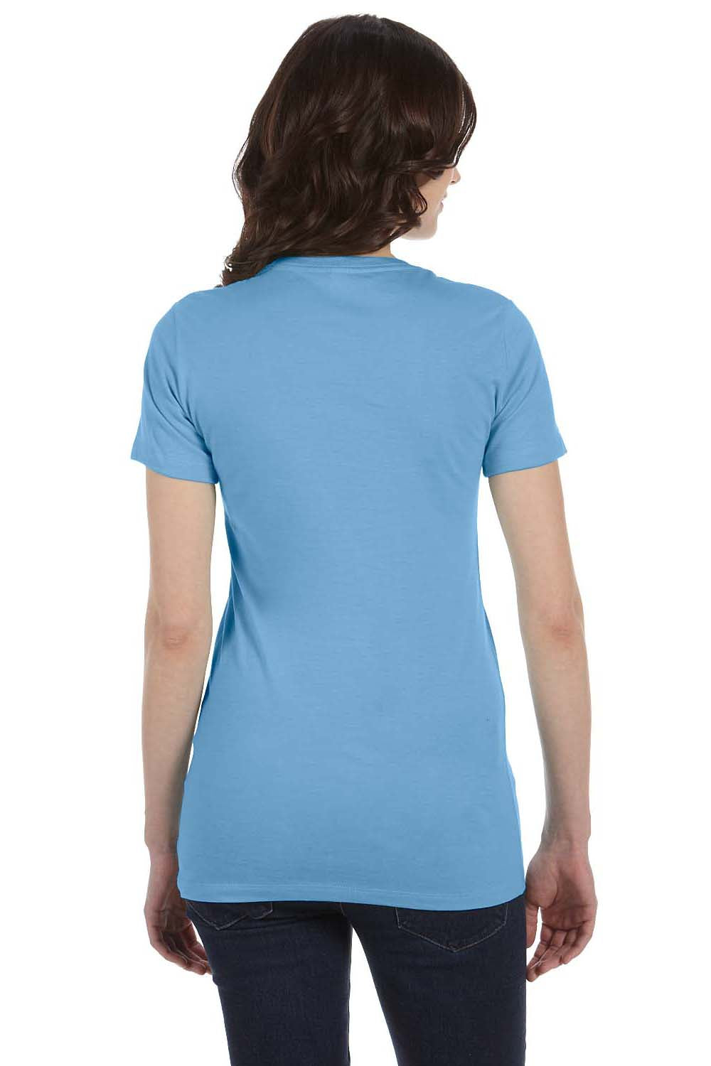 Bella + Canvas 6004 Womens The Favorite Short Sleeve Crewneck T-Shirt Ocean Blue Back