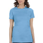 Bella + Canvas Womens Ocean Blue The Favorite Short Sleeve Crewneck T-Shirt