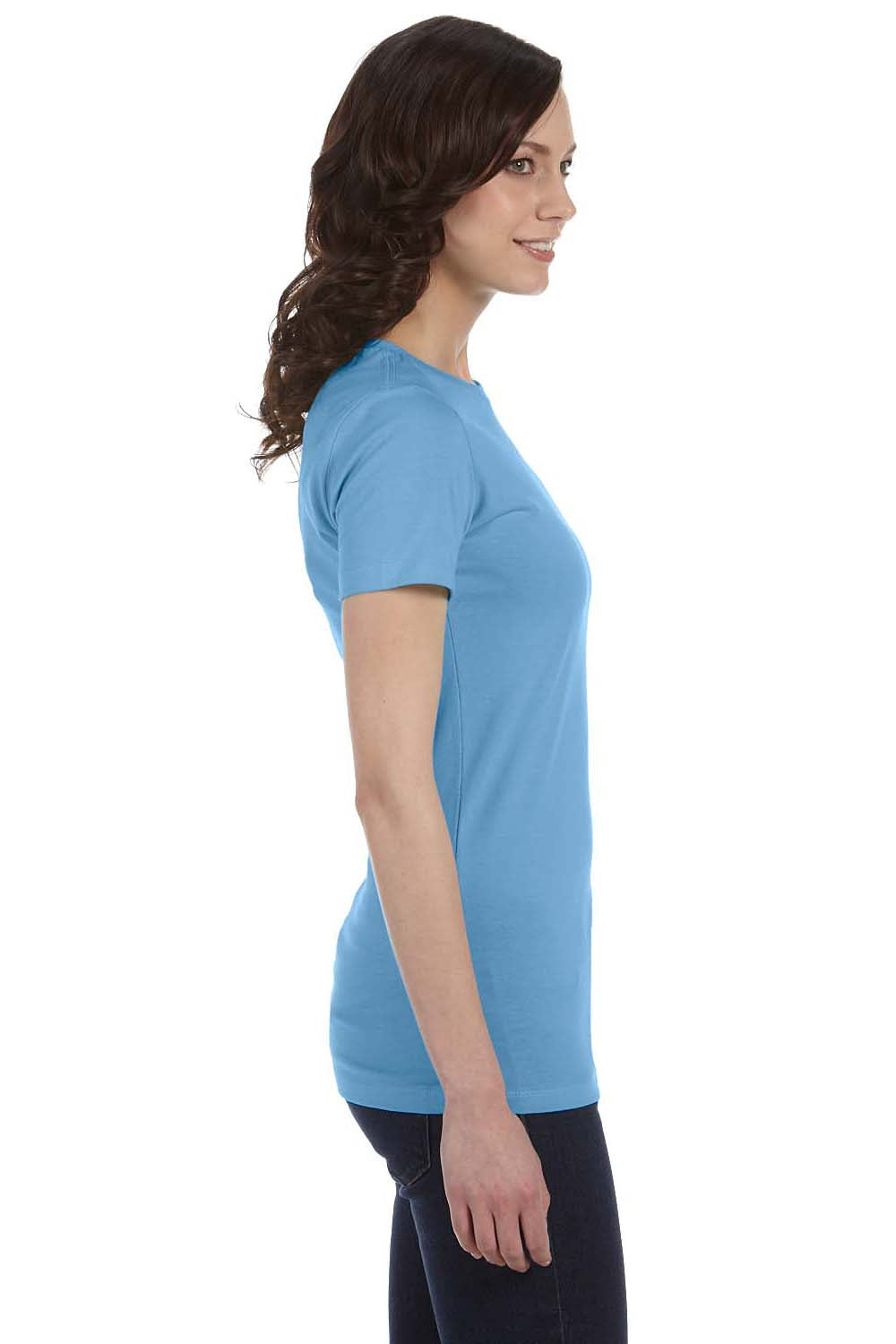 Bella + Canvas 6004 Womens The Favorite Short Sleeve Crewneck T-Shirt Ocean Blue Side