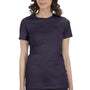 Bella + Canvas Womens Heather Navy Blue The Favorite Short Sleeve Crewneck T-Shirt