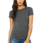Bella + Canvas Womens Heather Deep Grey The Favorite Short Sleeve Crewneck T-Shirt