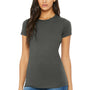 Bella + Canvas Womens Asphalt Grey The Favorite Short Sleeve Crewneck T-Shirt