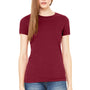 Bella + Canvas Womens Cardinal Red The Favorite Short Sleeve Crewneck T-Shirt